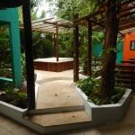 Jardim e hidromassagem